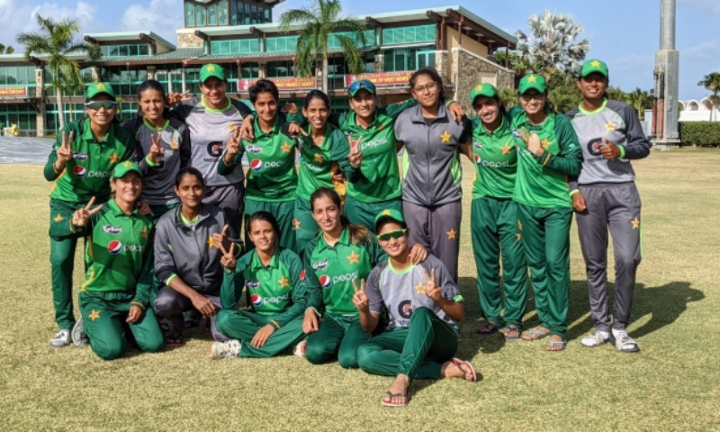Fatima, the 19-year-old pace bowler, wrecked West Indies' hopes with career-best return of 4-30 as the hosts were restricted to 210 all out. — Photo courtesy PCB