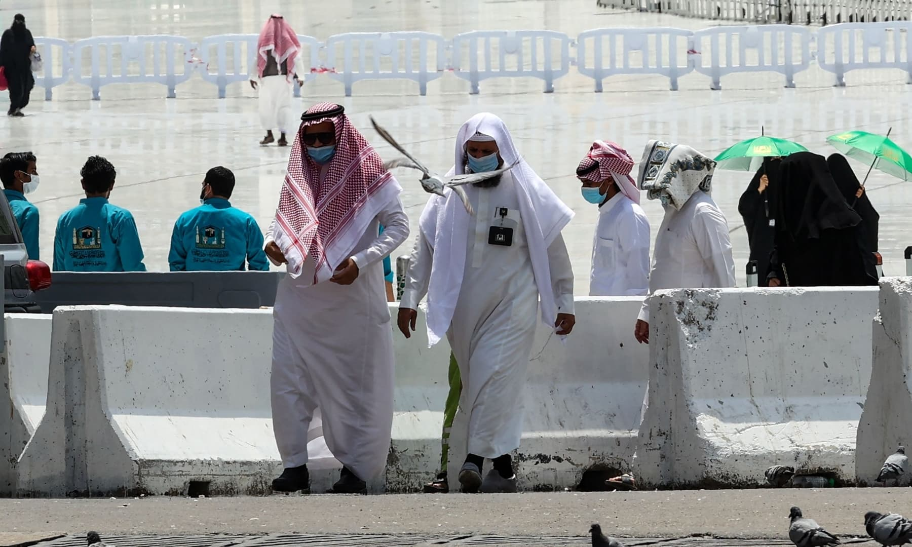 Pilgrims are pictured in the holy city of Makkah, Saudi Arabia, July 16, 2021. — AFP