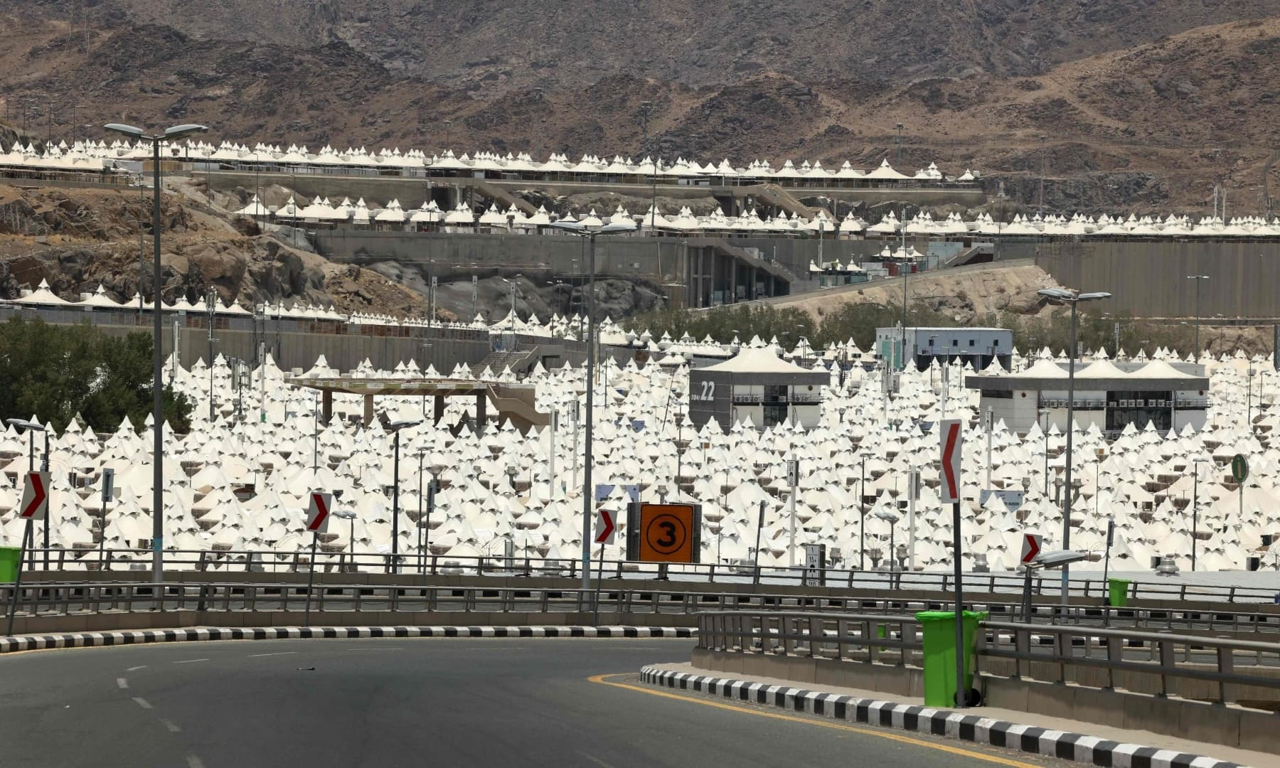 Tents are set up to host pilgrims in Mina, near the holy city of Makkah, Saudi Arabia, July 16, 2021. — AFP