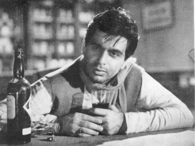 As a man unable to face the social taboos of his time in Devdas (1955)