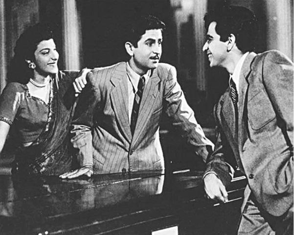 Andaaz (1949) established Dilip Kumar as a great thespian