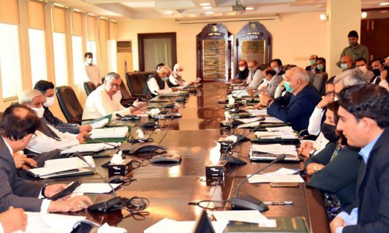 This file photo shows Finance Minister in an ECC meeting on July 16. The meeting had approved the Kamyab Pakistan Programme. — APP/File