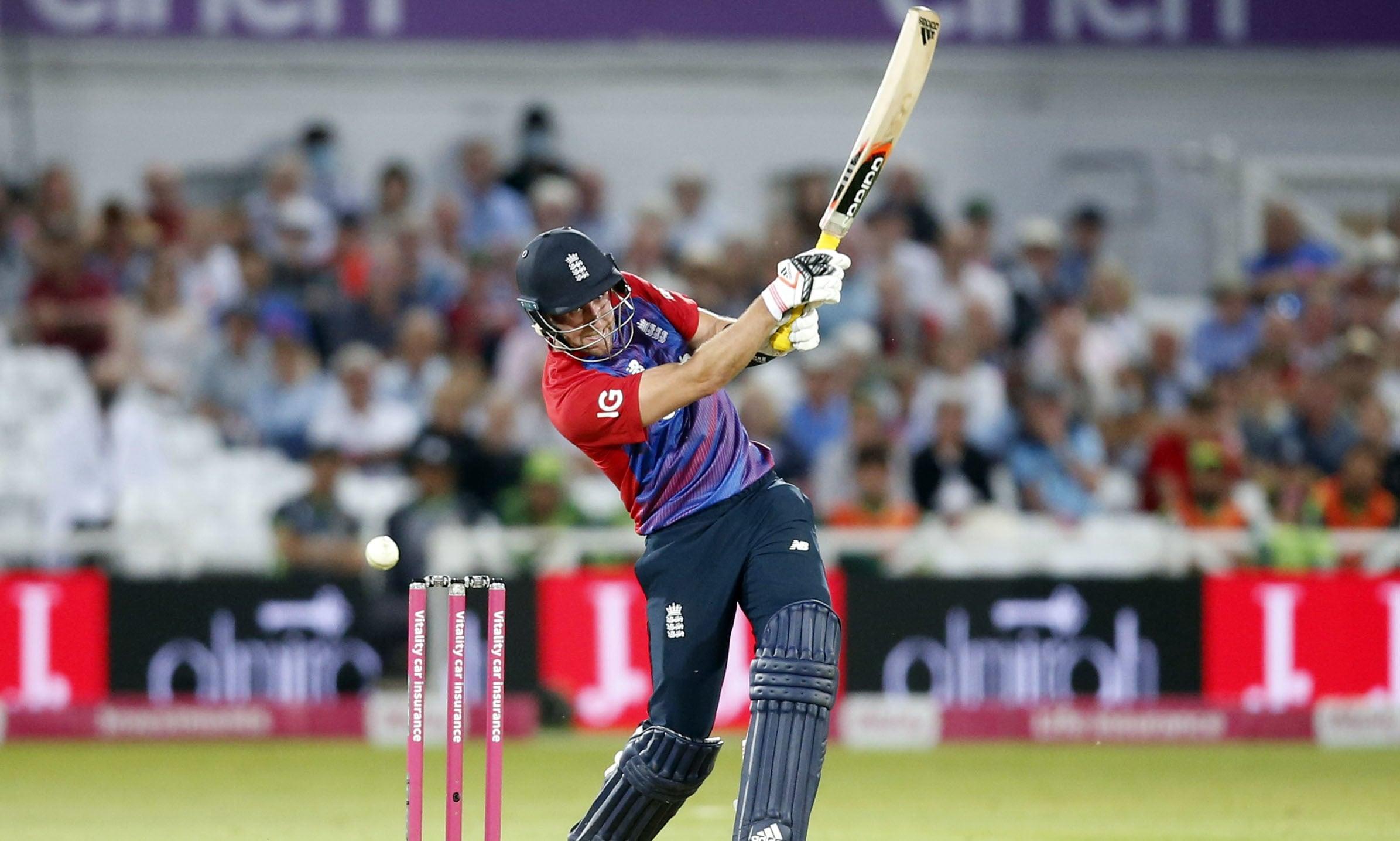 England's Liam Livingstone in action against Pakistan. — Reuters/File