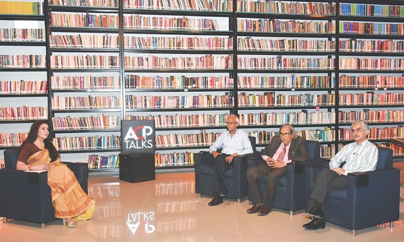 THE sitting to pay tribute to Shamsur Rahman Farooqi under way at Arts Council Karachi.—White Star