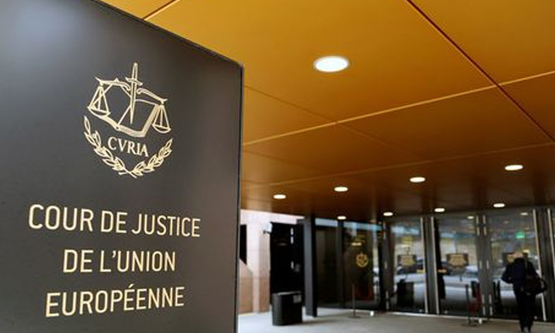 The entrance of the European Court of Justice is pictured in Luxembourg, January 26, 2017. — Reuters/File