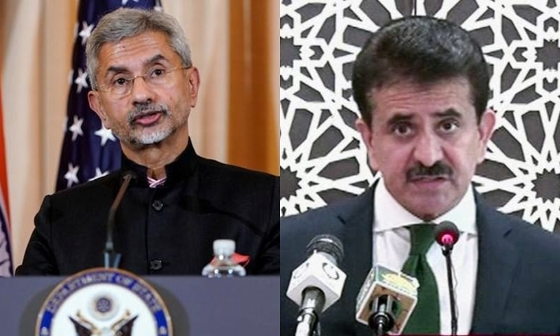 Indian External Affairs Minister S Jaishankar (L) and Foreign Office spokesperson Zahid Hafeez Chaudhri. — Reuters/File and DawnNewsTV/File