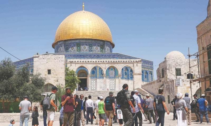یہودیوں کو مسجد الاقصیٰ میں داخلے کی اجازت دینے سے ایک مرتبہ پھر کشیدگی