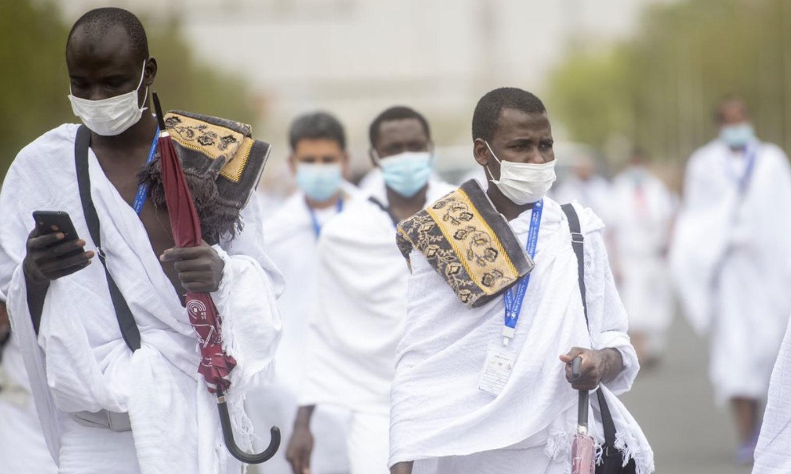 کورونا وائرس کے باعث اس سال بھی محدود افراد کے ساتھ حج ادا کیا گیا —فوٹو: بشکریہ حرمین شریفین ٹوئٹر