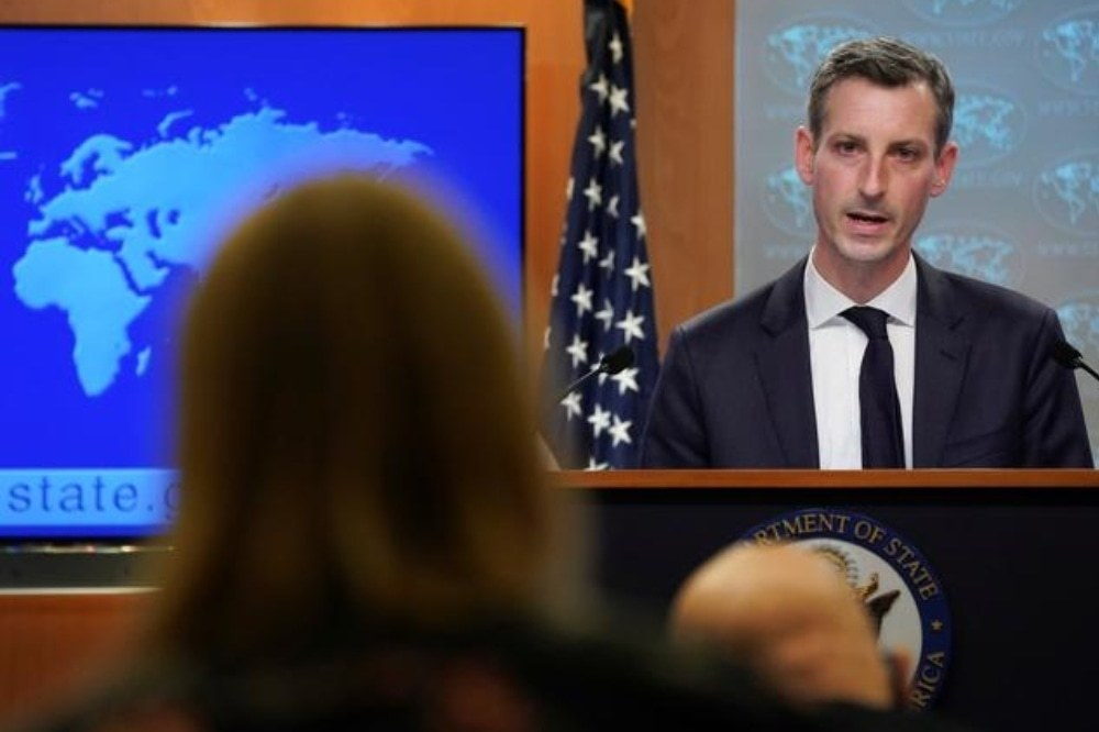 In this file photo, US State Department Spokesman Ned Price speaks during a news briefing at the State Department in Washington, February 8. — Reuters/File