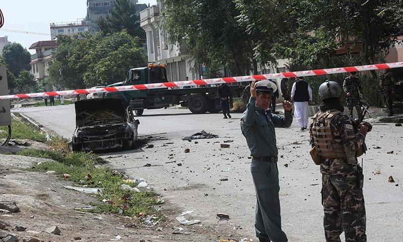 نماز عید کے دوران افغان صدارتی محل کے قریب راکٹ حملہ