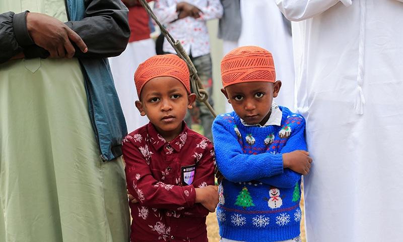Muslims attend prayers marking Eidul Azha, amid the coronavirus pandemic, in Nairobi, Kenya on Tuesday. — Reuters