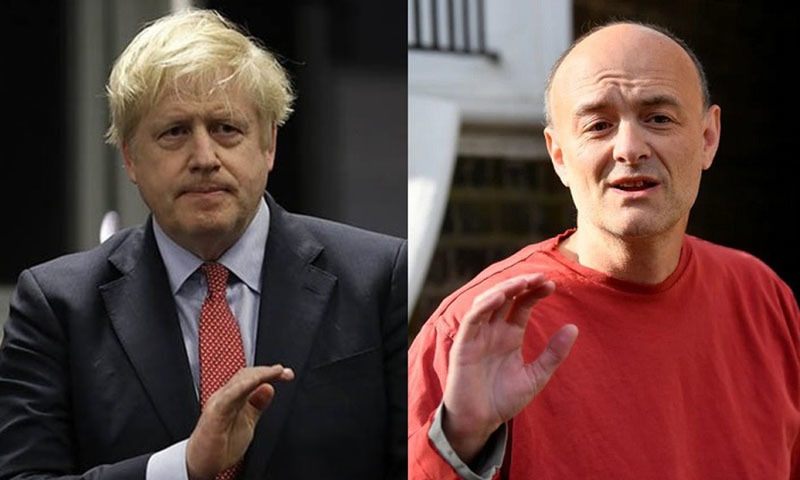 This combition of photos show British Prime Minister Boris Johnson (L), and his former special advisor Dominic Cummings (R). — Reuters/File