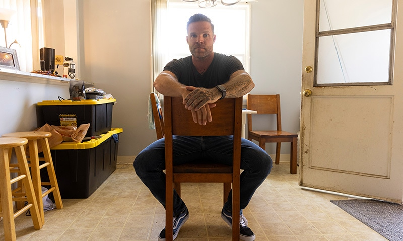A US special forces veteran Jason Lilley poses for a portrait at his home in Garden Grove, California, US. — Reuters