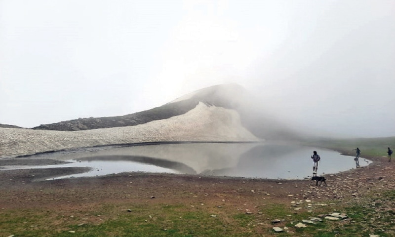 A beautiful view of one of the four Sohnisar lakes. — Dawn
