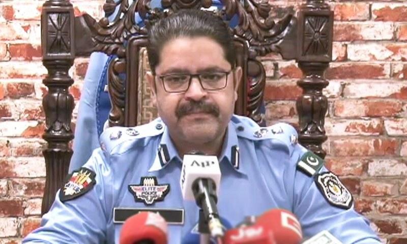 SSP (Investigation) Ataur Rehman addresses a press conference in Islamabad. — DawnNewsTV