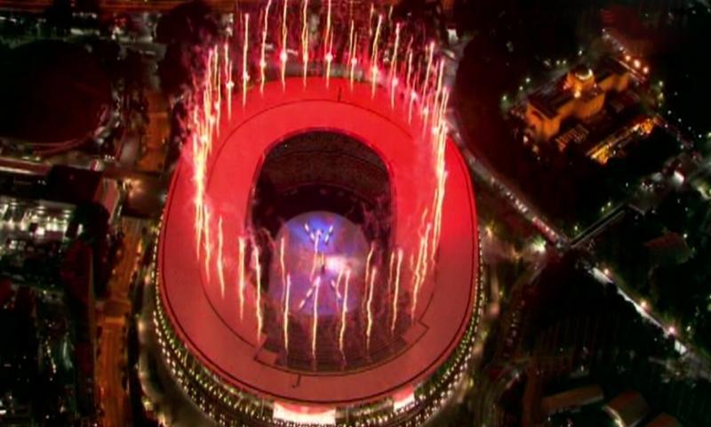 کوروناوائرس کے باعث ایک سال کی تاخیر کے بعد ٹوکیو اولمپکس کا آغاز بھاری پابندیوں کے تحت ہوگیا—اسکرین شاٹ