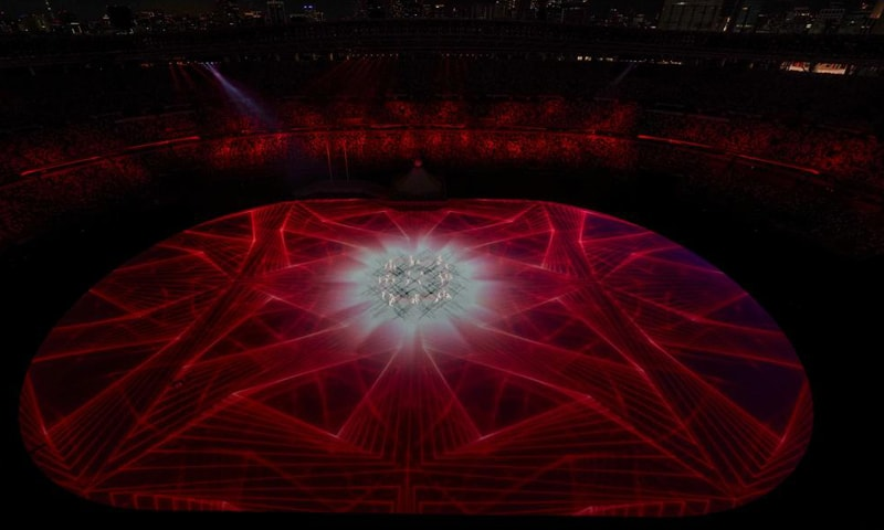 Dancers are seen during the opening ceremony at the Olympic Stadium at the 2020 Summer Olympics. — AP