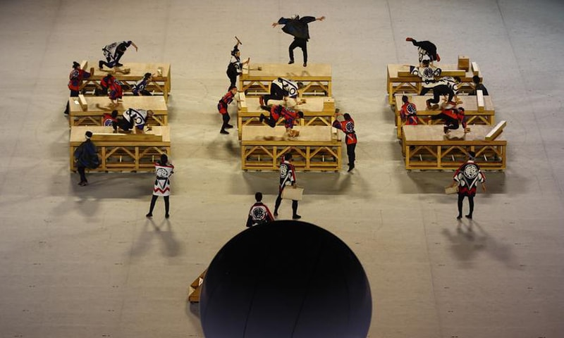 Performers are seen during the opening ceremony. — Reuters