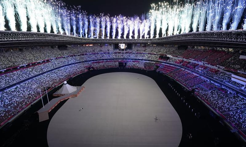 Fireworks go off during the opening ceremony. — Reuters
