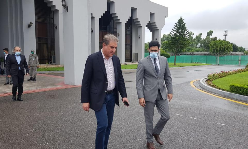 Foreign Minister Shah Mahmood Qureshi is being accompanied on the trip by Foreign Secretary Sohail Mahmood and other senior officials. — Photo courtesy Foreign office/File