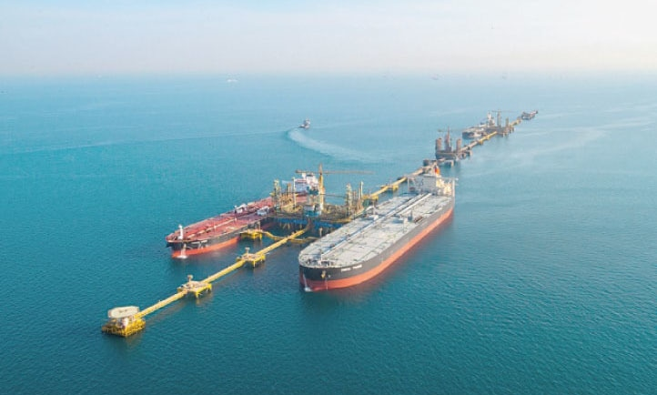 A view of Ras Tanura terminal — the largest oil export terminal in the world — is seen in this file photo. — Dawn