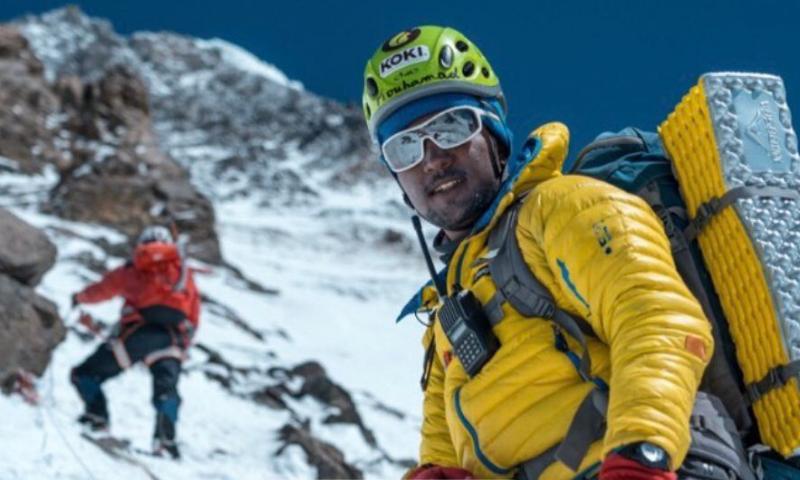 This photo posted on July 17 shows Sajid Sadpara during the expedition. — Photo courtesy Sajid Sadpara's Twitter