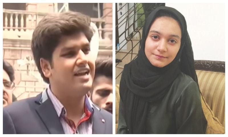 Shah Hussain (L) and Khadija Siddiqui (R). — Dawn/File