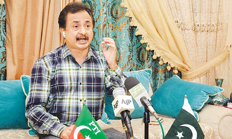 HALEEM Sheikh speaks at the press conference on Saturday.—PPI