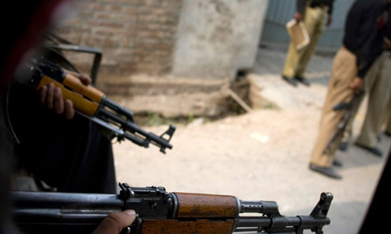 The police stated that three persons, all residents of Lower Dir, got off the car and once again tried to flee after firing at the police party. — Dawn/File