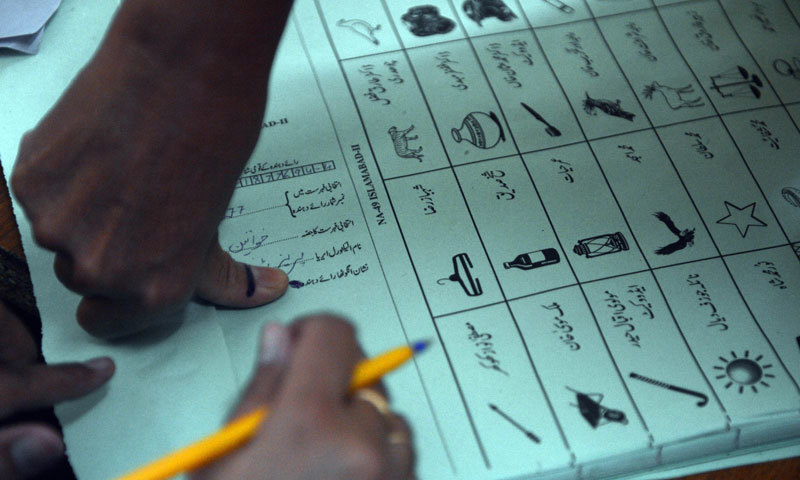 There are two Azad Jammu and Kashmir Legislative Assembly constituencies in the province, with Peshawar alone having three polling stations. — AFP/File