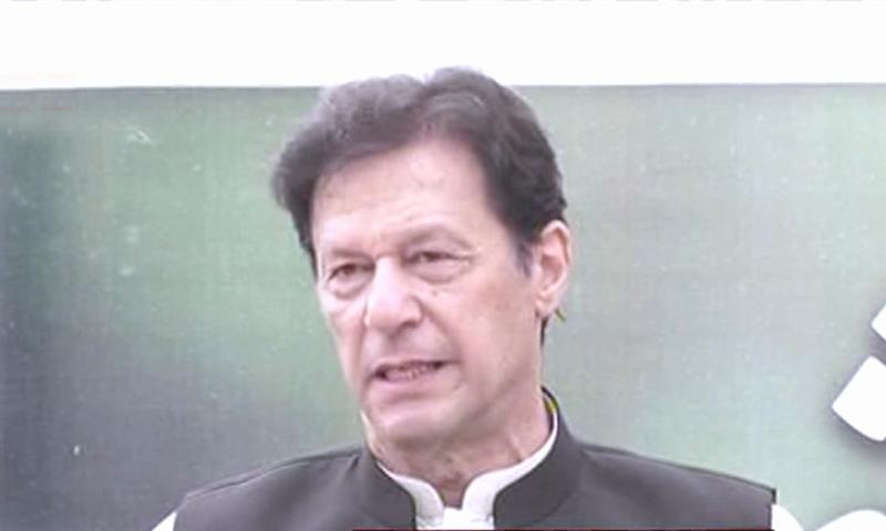 وزیر اعظم اسلام آباد میں مون سون شجر کاری مہم کے آغاز کے لیے منعقدہ تقریب سے خطاب کر رہے تھے — فوٹو: ڈان نیوز