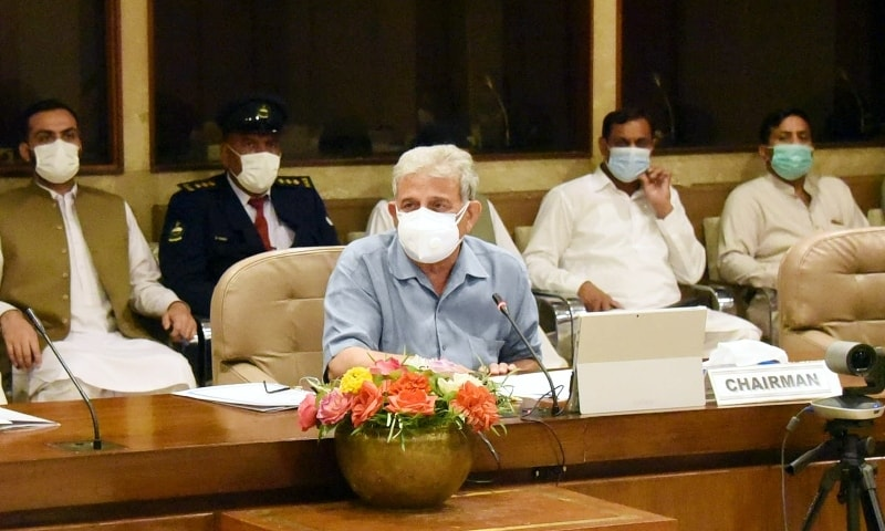 PAC Chairman Rana Tanveer Hussain chairs the committee meeting at Parliament House on Monday. — Photo courtesy PAC website