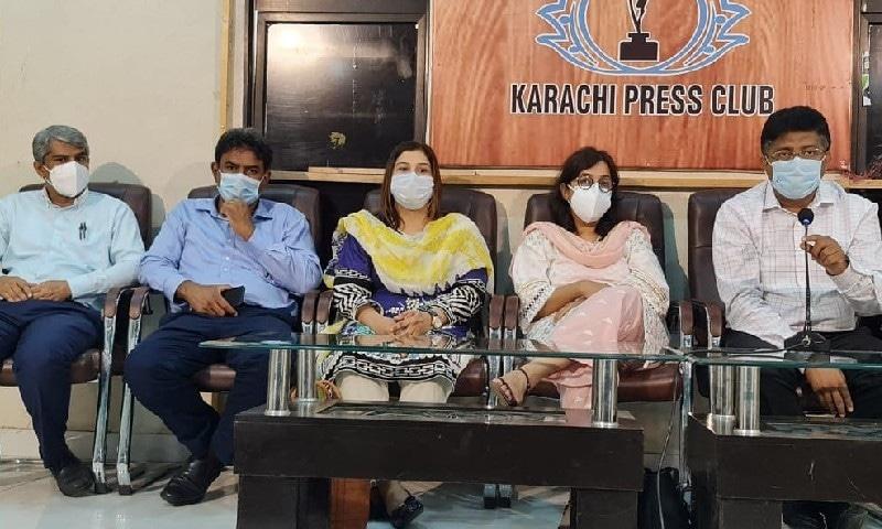 سیمینار میں شریک ماہرین — فوٹو بشکریہ کراچی پریس کلب فیس بک پیج