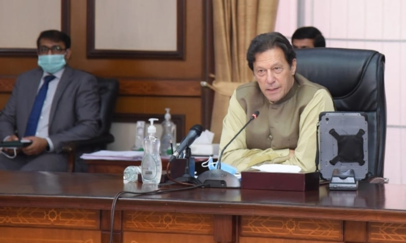 Prime Minister Imran Khan presides over the meeting of the federal cabinet on Tuesday. — Photo courtesy Prime Minister's Office