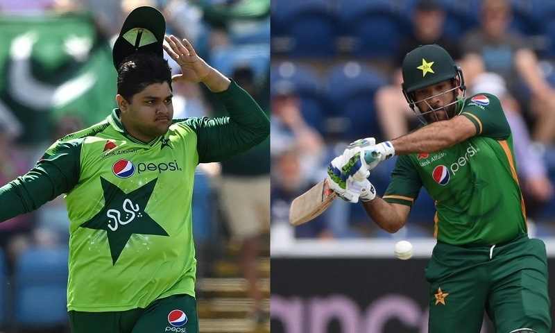 Azam Khan (L) and Sohaib Maqsood (R) both had underwhelming series against England, raising fears they could be shelved soon after being inducted into the national fold.