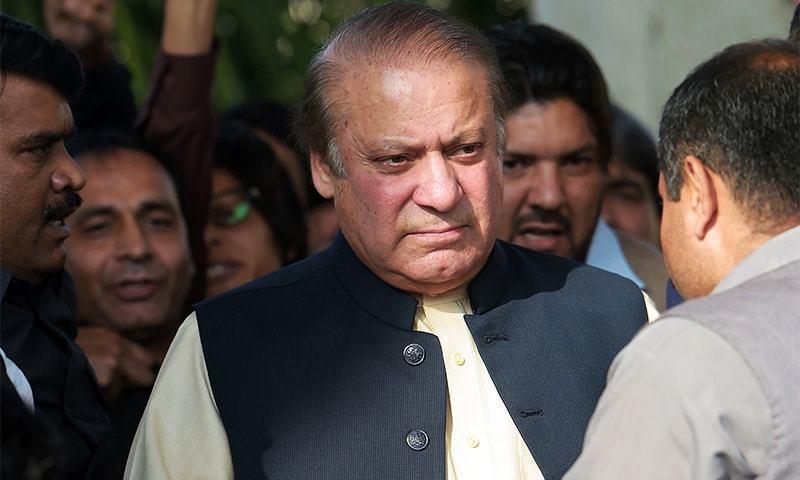 This file photo shows former prime minister Nawaz Sharif. — AFP/File
