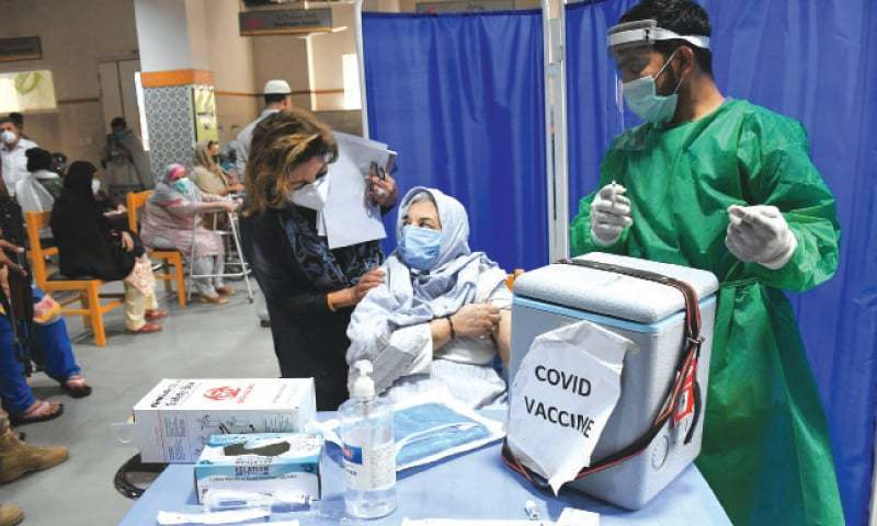 Officials in health department said that the vaccines were safe and very few mild reactions had been reported so far. — Faysal Mujeeb/ White Star