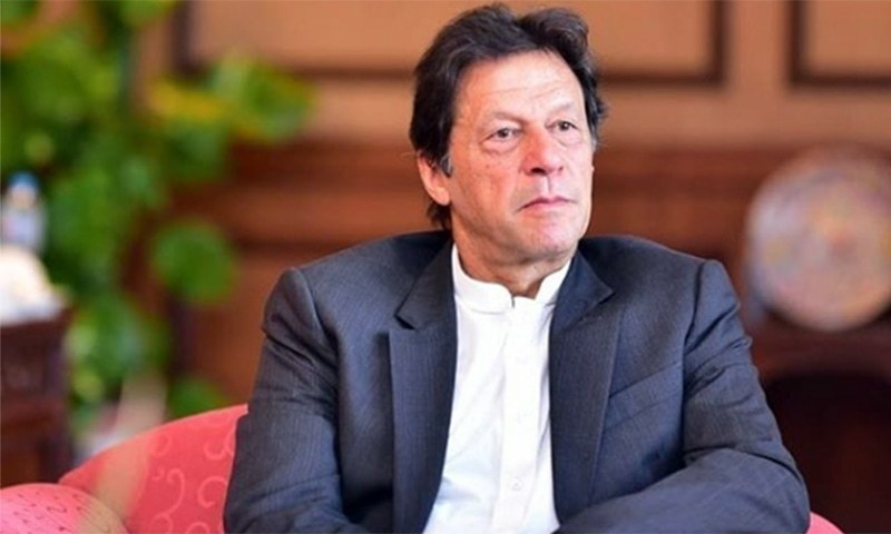 """A source said Prime Minister Imran Khan expressed displeasure as he was being contacted by different quarters for """"support and favour"""" for particular candidates. — Photo courtesy Imran Khan Instagram"""