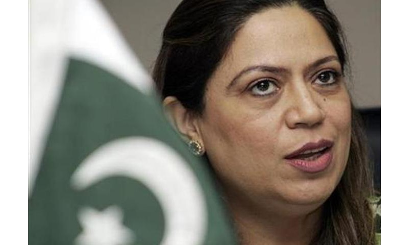 Nilofar Bakhtiar speaks during an interview with Reuters Television in 2007. — Reuters/File