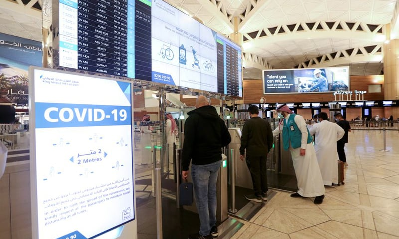 In this file photo, Saudi nationals scan their documents at a digital-Immigration gate at the King Khalid International Airport. — Reuters/File