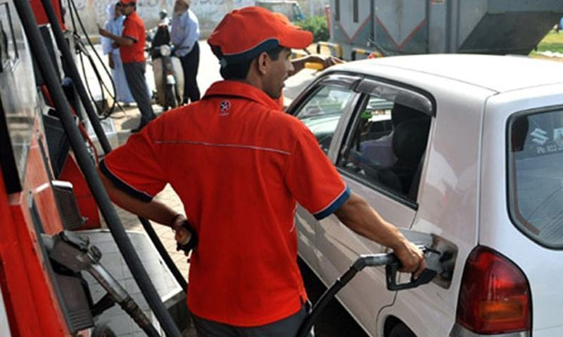 The ex-depot price of petrol was increased by 1.5 per cent to Rs119.80 from Rs118.09 per litre. — AFP/File