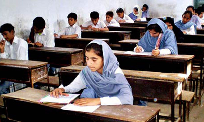 As per the examination schedule issued by the Board of Intermediate and Secondary Education, Mardan, the first year students of HSSC were to give their mathematics paper on Friday. — APP/File