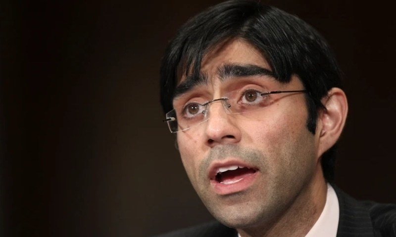 """NSA Moeed Yusuf described the PTI government's US policy as """"pragmatic and unapologetic, but not boastful"""". — AFP/File"""