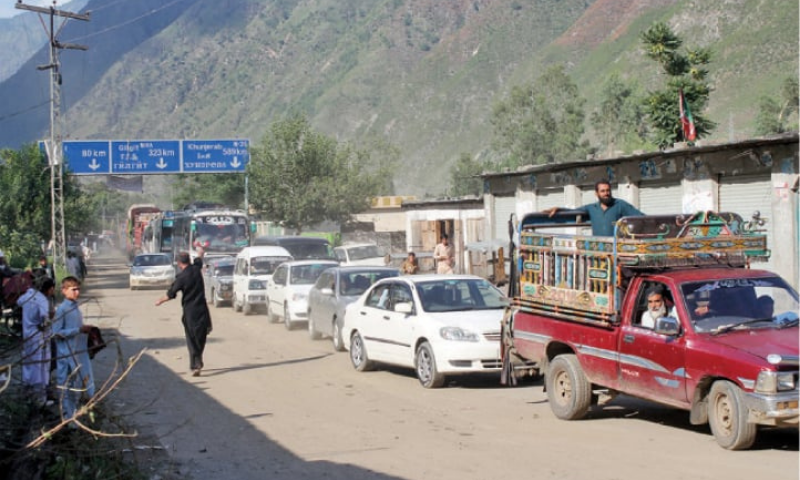 The closure of Mansehra-Naran-Jalkhad Road and link roads was also reported in the region due to the floods and landslides triggered by heavy monsoon rains. — Dawn/File