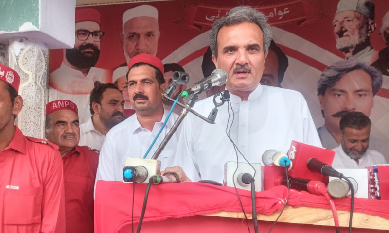 Awami National Party Ameer Haider Khan Hoti claimed that the PTI leaders had re-inaugurated the projects initiated by the ANP government in Swabi. — Photo courtesy ANP Twitter