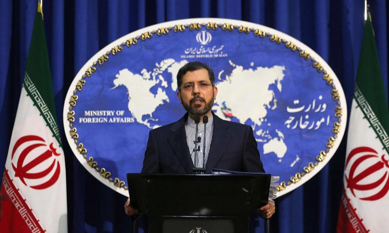 Iranian foreign ministry spokesman Saeed Khatibzadeh speaks during a press conference. — AFP/File