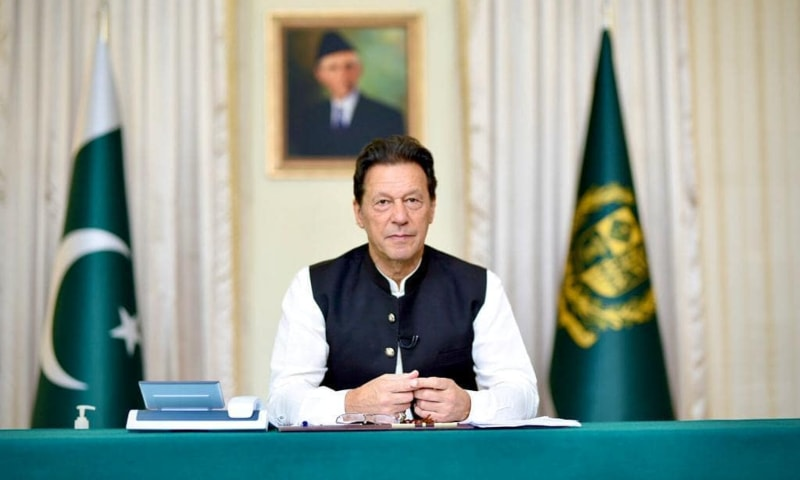 Prime Minister Imran Khan pictured during a live QnA session with the people of Pakistan. — Photo:  Imran Khan Instagram