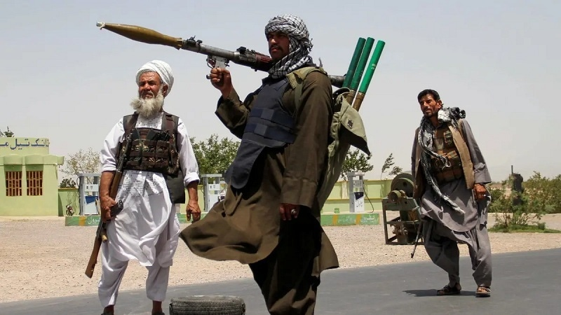 Former Mujahideen hold weapons to support Afghan forces in their fight against Taliban, on the outskirts of Herat province, Afghanistan on July 10, 2021. — Reuters/File