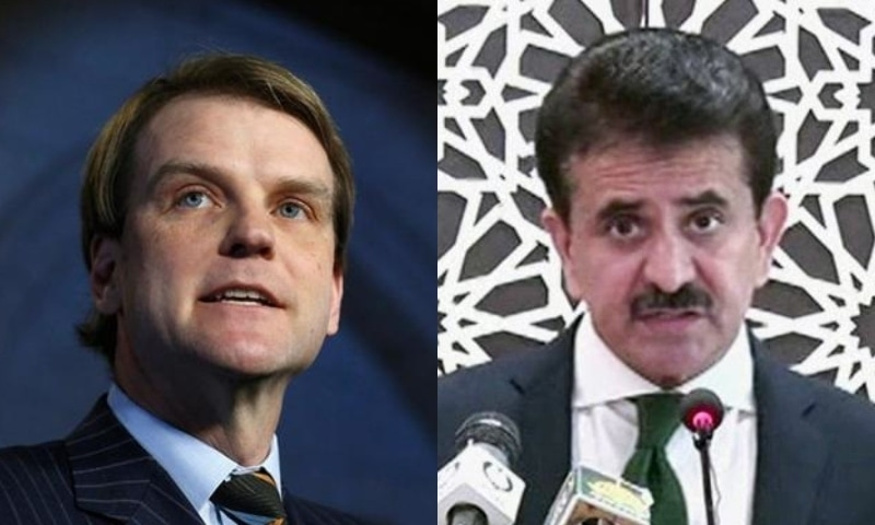 Former Canadian minister Chris Alexander (L) and FO spokesperson Zahid Hafeez Chaudhri. — Reuters/File and DawnNewsTV/File