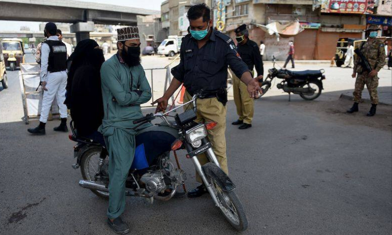 The court ordered that no FIR under Section-188 of the PPC should be registered against citizens flouting Covid-19 SOPs at police stations in two districts, East and Korangi. — AFP/File
